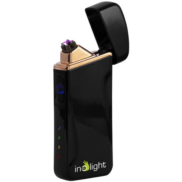 inolight Lichtbogen-Feuerzeug CL6, zündet mit Doppellichtbogen, Metallgehäuse