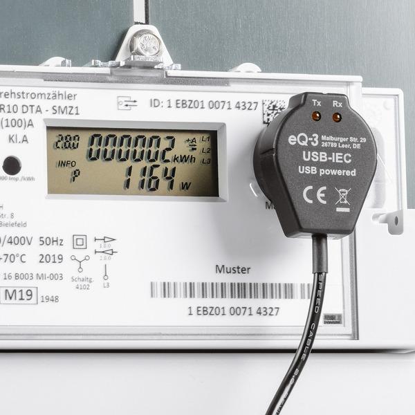 Stromzähler einfach auslesen - USB-IEC-Interface