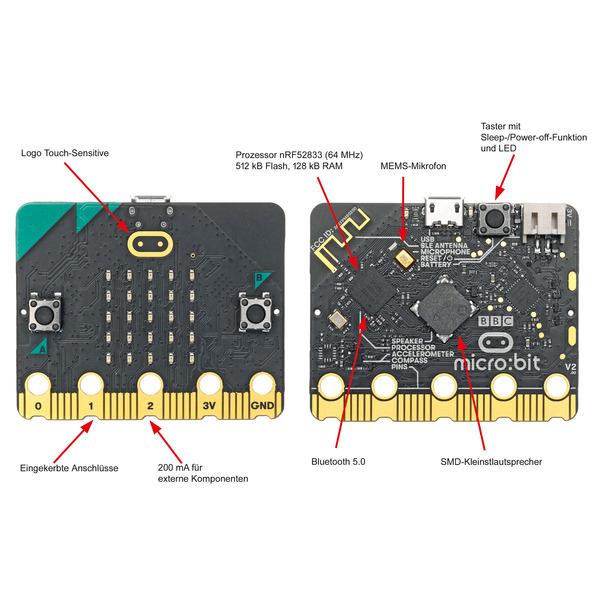 BBC micro:bit erweitert - Beliebter Lern-Mikrocomputer in Version 2.0