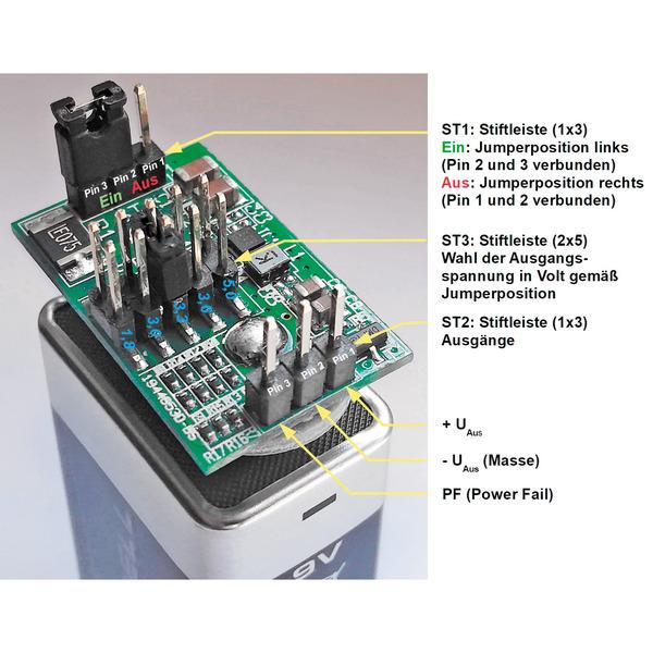 Nachhaltige Schaltung - Bausatz BAP5 – vielseitige Batterieaufsteckplatine im Praxistest
