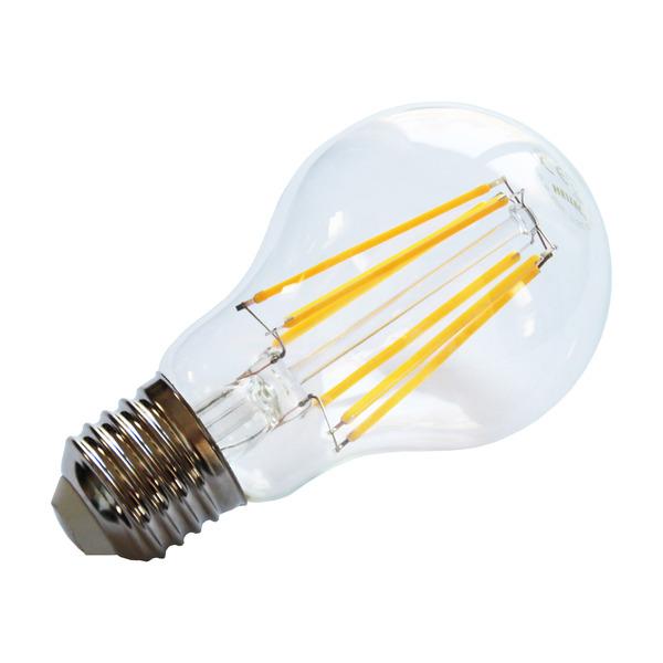 HEITEC 8-W-Filament-LED-Lampe A60, E27, 810 lm, warmweiß, klar
