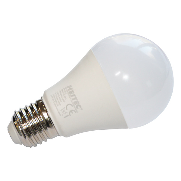 HEITEC 10-W-LED-Lampe A60, E27, 810 lm, warmweiß, matt