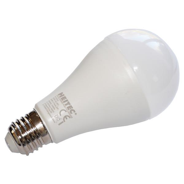 HEITEC 20-W-LED-Lampe A65, E27, 1800 lm, warmweiß, matt