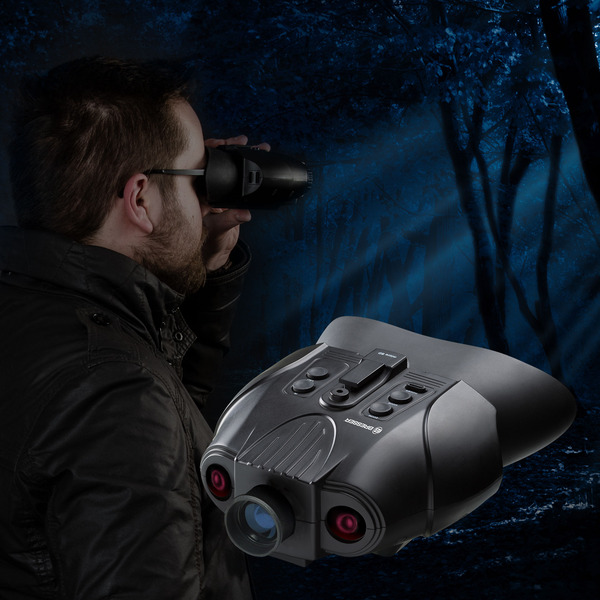 Bresser Digitales Nachtsichtgerät, binokular, 3-fache Vergrößerung, mit Aufnahmefunktion