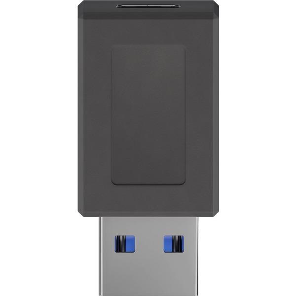 goobay USB-C™-Buchse auf USB-A-3.0-Stecker, schwarz