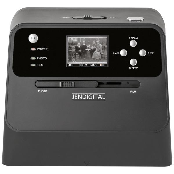 JENDIGITAL 4-in-1-Kombi-Scanner JDS1 - für Fotoalben, Bilder, Dias, Negative, Kontrolldisplay, 14 MP
