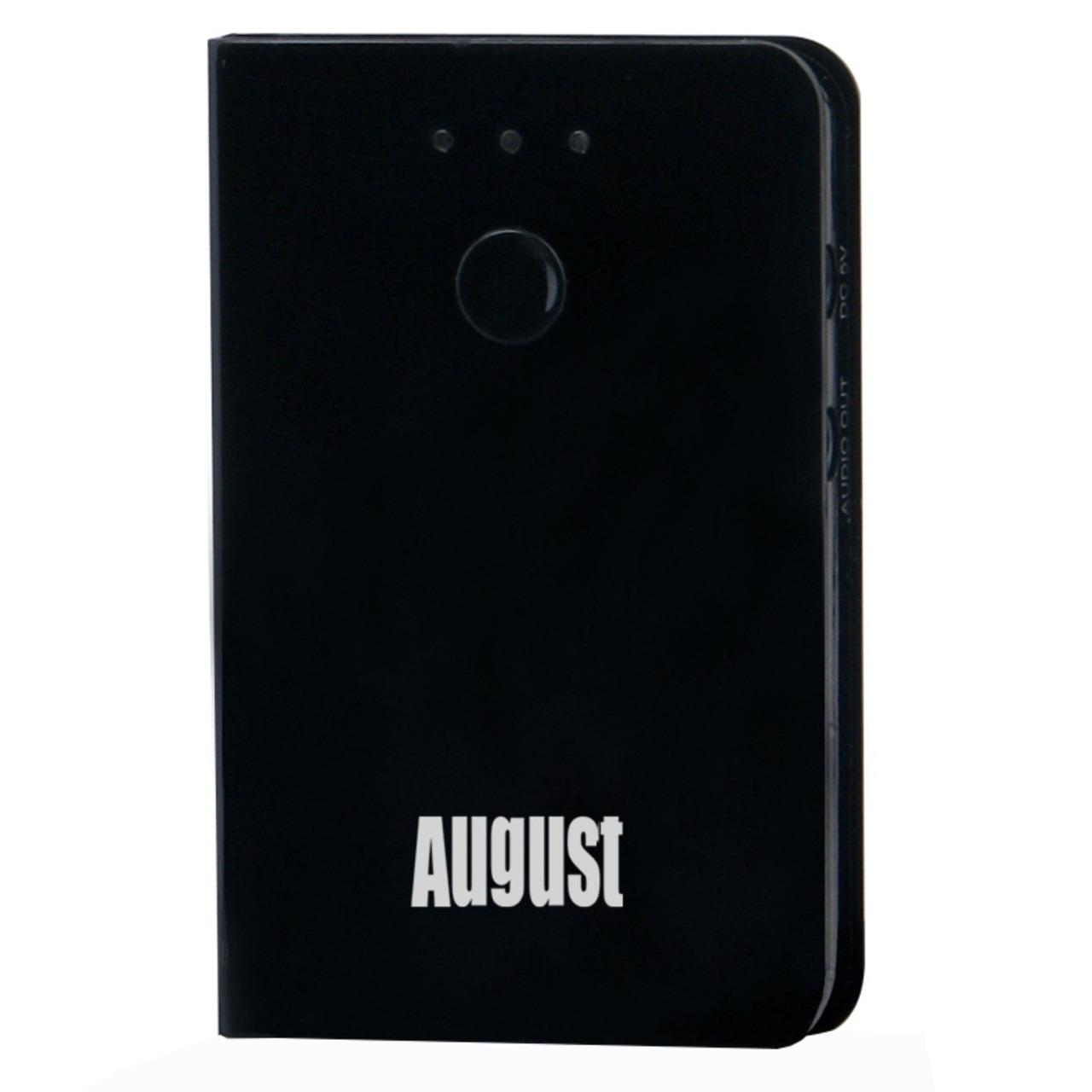 August Bluetooth-Audio-Adapter MR230B- Bluetooth-Receiver-Empfänger- Akkubetrieb möglich