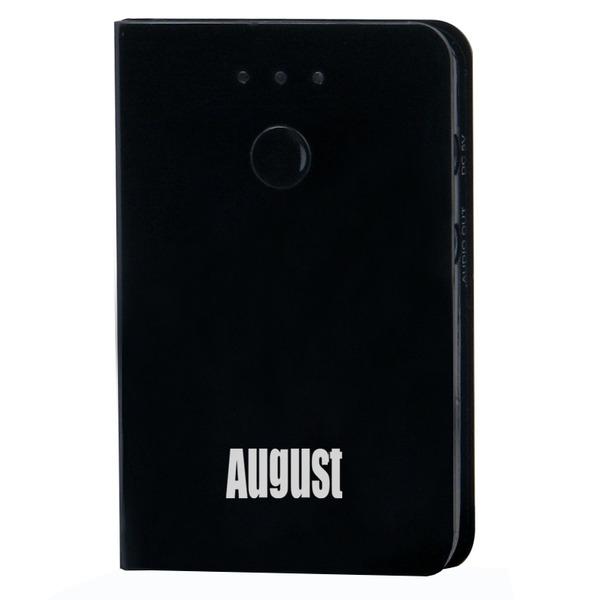 August Bluetooth-Audio-Adapter MR230B, Bluetooth-Receiver/-Empfänger, Akkubetrieb möglich