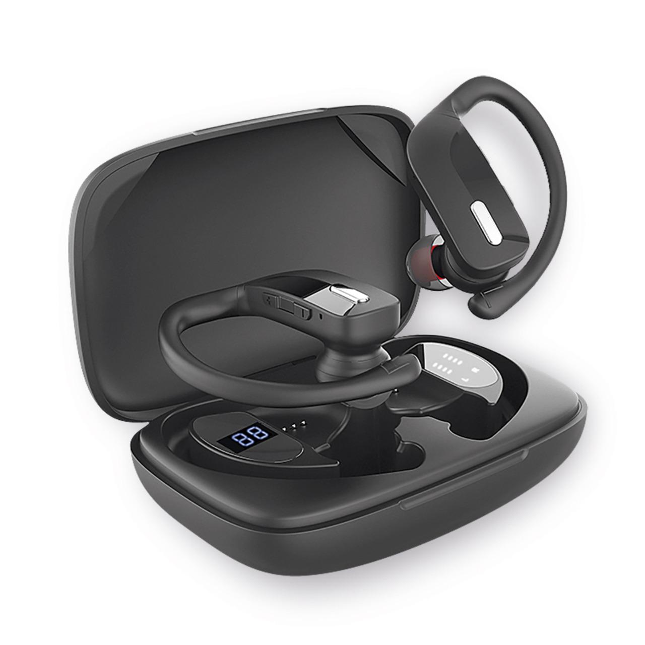 Fontastic TWS-Sport-Kopfhörer Rave- mit ergonomischen Ohrbügeln- 600-mAh-Ladebox