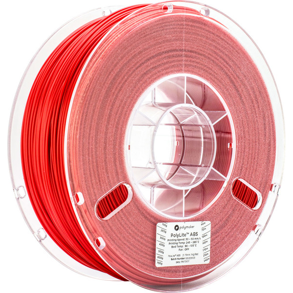 Polymaker Polylite ABS-Filament, rot, 1,75 mm, 1 kg