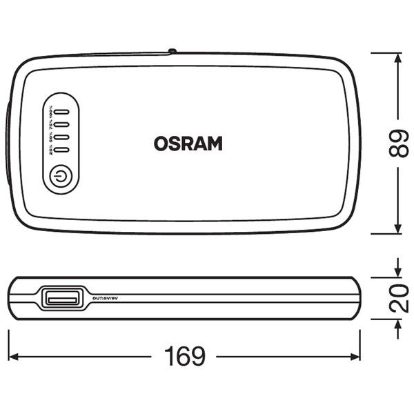 OSRAM Kfz-Starthilfegerät BATTERYstart 200, 12 V, 500 A, 6.000 mAh