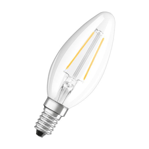 OSRAM 2,8-W-LED-Kerzenlampe, E14, 250 lm, warmweiß, klar, dimmbar