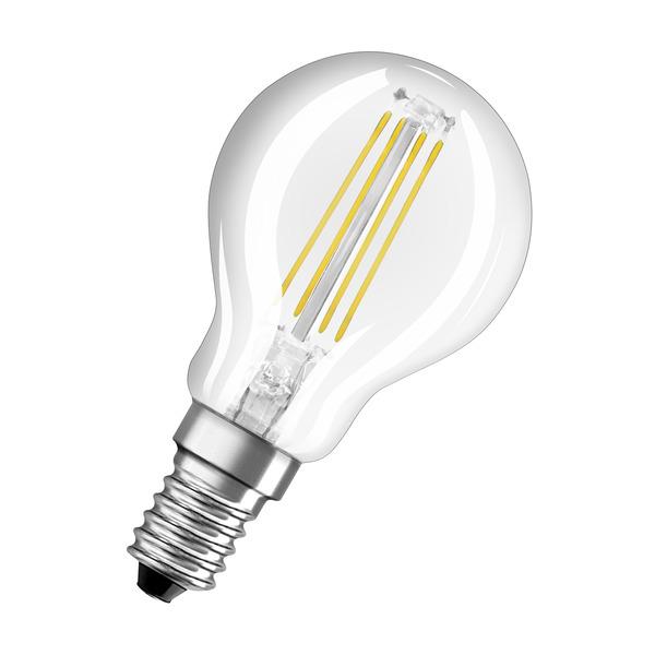 OSRAM 6,5-W-LED-Lampe P45, E14, 806 lm, warmweiß, klar, dimmbar