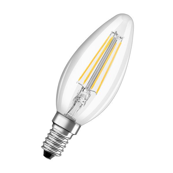OSRAM 6-W-LED-Kerzenlampe, E14, 806 lm, warmweiß, klar