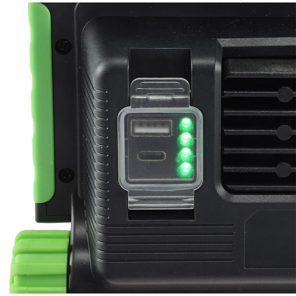 ChiliTec 30-W-Akku-LED-Baustrahler / LED-Fluter BSA-30, neutralweiß, integrierte Powerbank, IP54