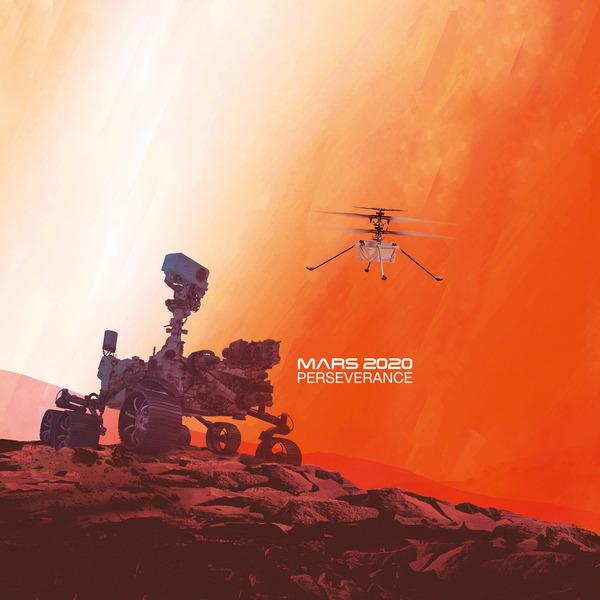 Mit der Drohne zum Mars - Helikopterdrohne, Kameras und Sensoren auf High-Tech-Erkundungsmission