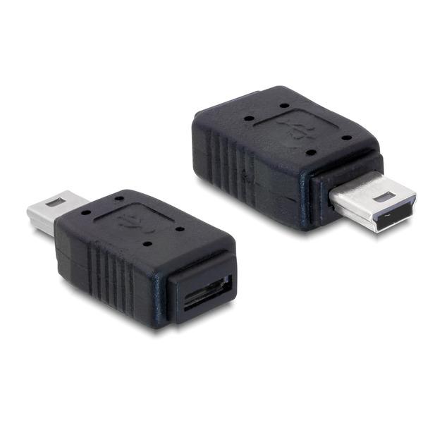 Delock USB-Adapter DLO-65155, Mini-USB-Stecker auf Micro-USB-B-Buchse