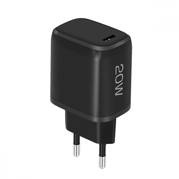Fontastic USB-Type-C Schnell-Reiselader Nivo, 20 W, Power Delivery, 100 - 240 V, Schwarz