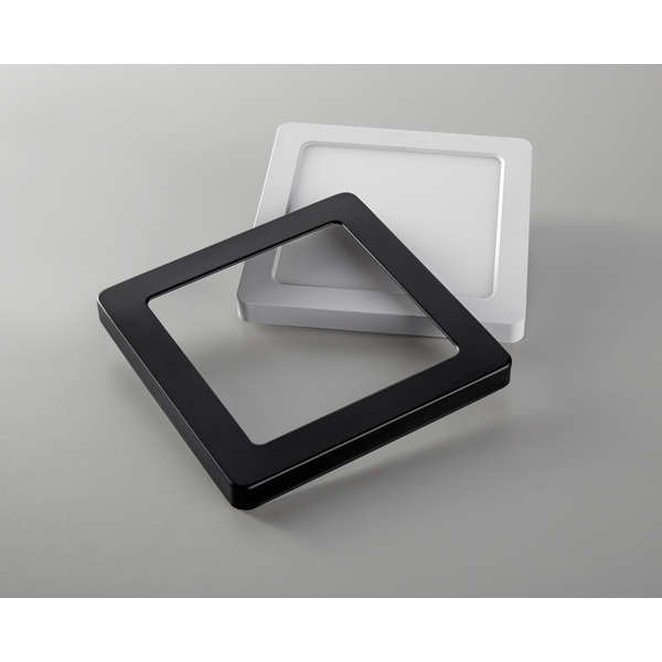 HEITRONIC Metallring für LED-Panel SELESTO, eckig, schwarz