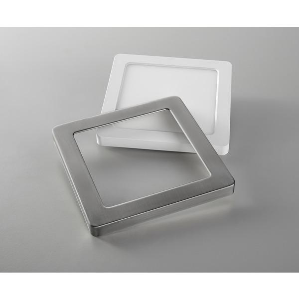 HEITRONIC Metallring für LED-Panel SELESTO, eckig, nickel-gebürstet