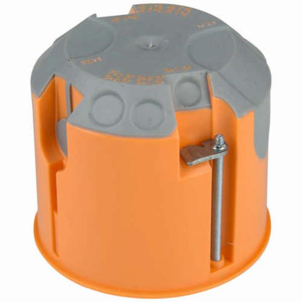 Heitronic Hohlwand-Schalterdose 61 mm, winddicht, max. Durchmesser 70 mm, 4 Eingänge