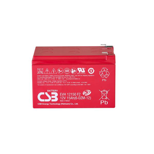 CSB wartungsfreier, versiegelter AGM-Blei-Säure-Akku EVH 12150, 12 V,15 Ah, zyklenfest