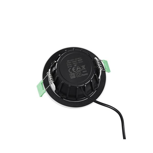 HEITRONIC 8,5-W-LED-Einbaustrahler DL8002, Farbtemperatur einstellbar, schwenkbar, dimmbar, IP65