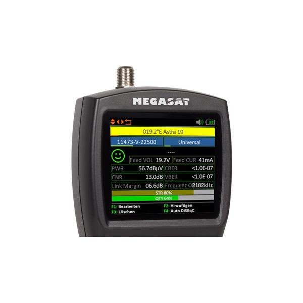 "Megasat Satfinder / Sat-Messgerät HD 3 Kompakt V3, DVB-S2, 6,9-cm-LC-Farbdisplay (2,7""), Akkubetrieb"