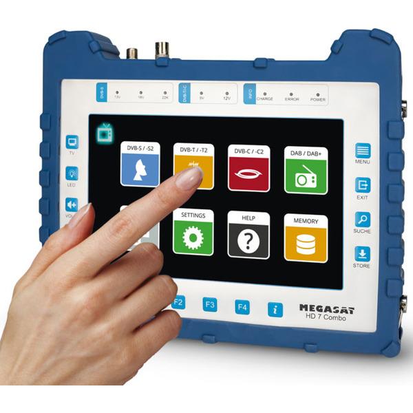 "Megasat DVB-Combo-Messgerät HD 7 Combo, DVB-S/S2/T/T2/C/C2, DAB+, 22,6-cm-Touchdisplay (8,9""), Akku"