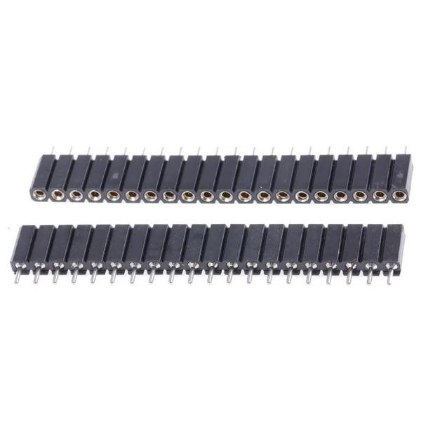 Präzisions-Buchsenleiste, 20-polig/1-reihig, gerade, Raster 2,54 mm für Stifte von Ø 0,7 bis 0,9 mm