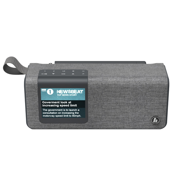 hama Portables Digitalradio DR200BT, UKW/DAB+, Akkubetrieb, Bluetooth-Lautsprecher