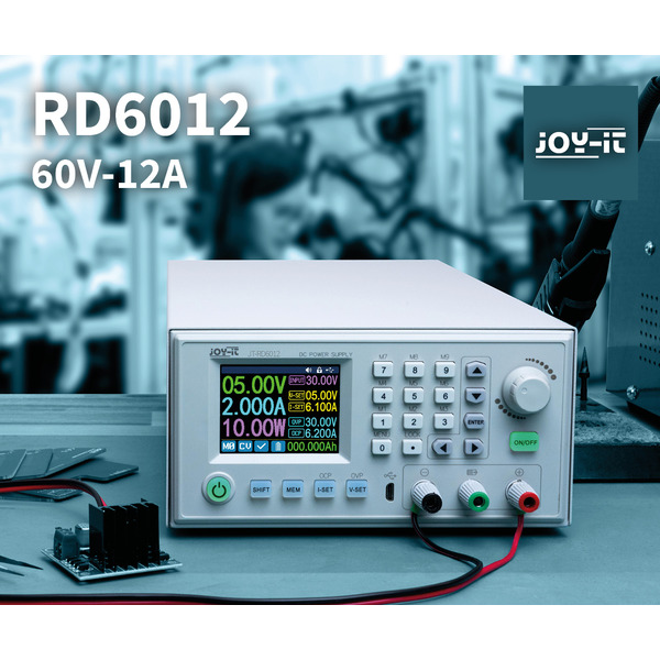 Joy-IT Programmierbares Labornetzteil JT-RD6012 Komplettgerät, 0-60 V/0-12 A, max. 720 W