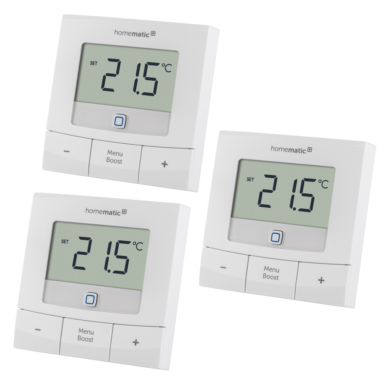 Homematic IP Smart Home 3er Set Wandthermostat basic HmIP-WTH-B