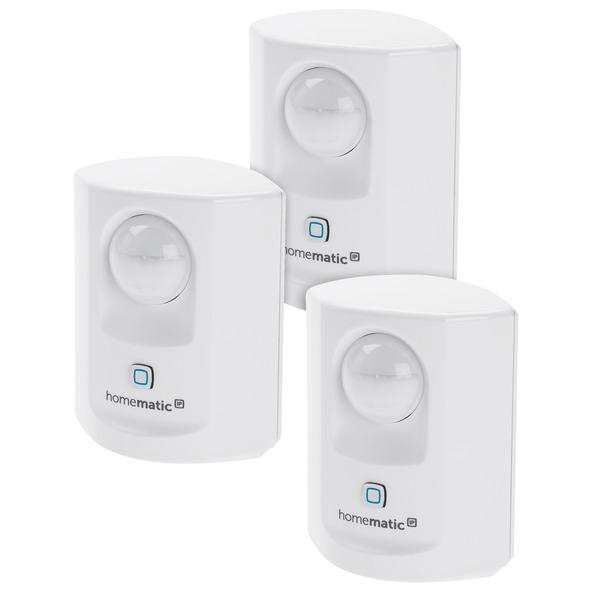 Homematic IP 3er Set Bewegungsmelder mit Dämmerungssensor - innen, für Smart Home/ Hausautomation