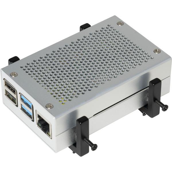 Joy-IT Universal-Halterung für Raspberry Pi Gehäuse, Metallausführung für DinRail und Vesa 75/100
