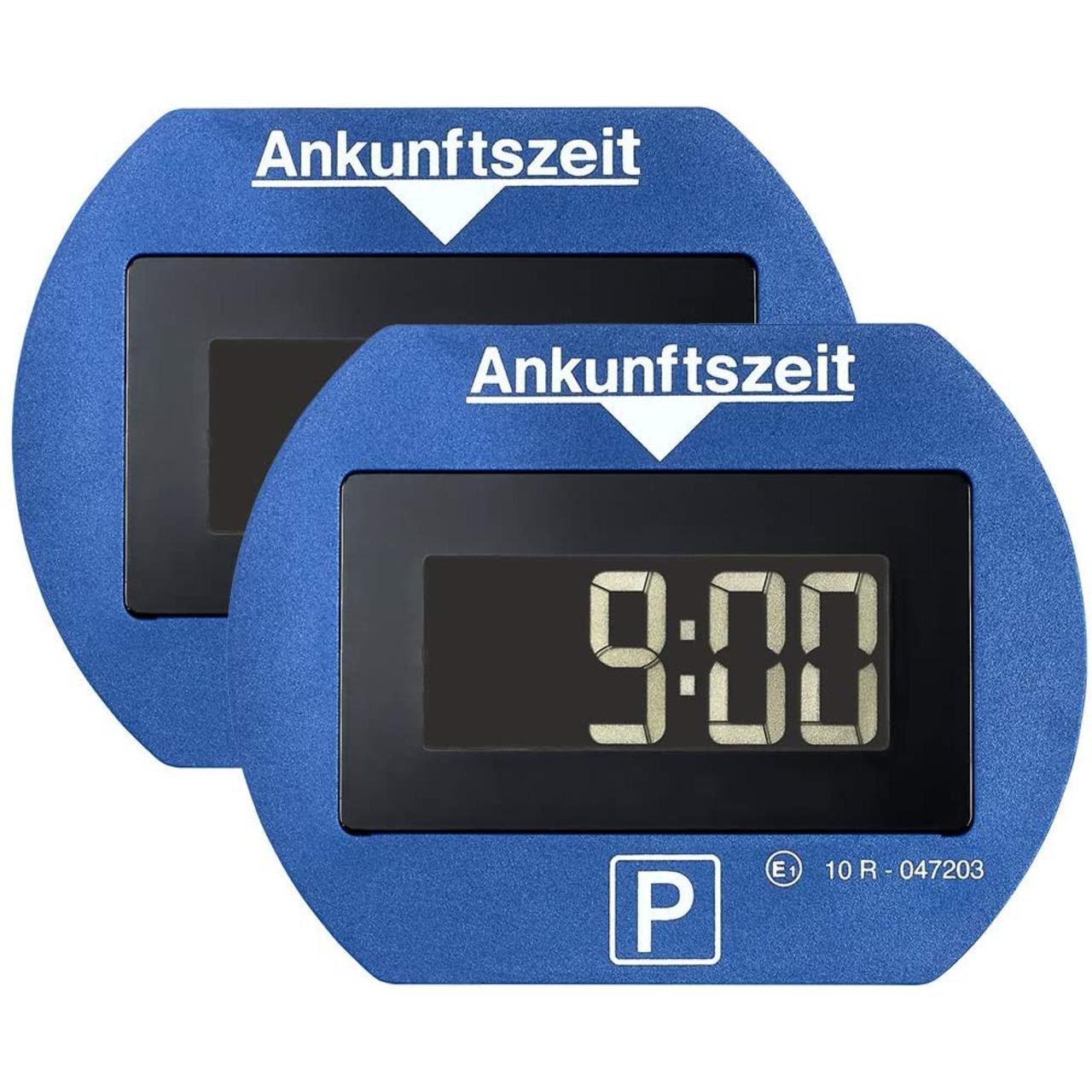 Needit 2er-Spar-Set Digitale Parkscheibe PARK LITE- automatische Parkzeiteinstellung- blau