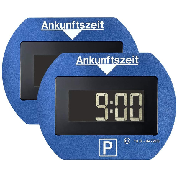 Needit 2er-Spar-Set Digitale Parkscheibe PARK LITE, automatische Parkzeiteinstellung, blau