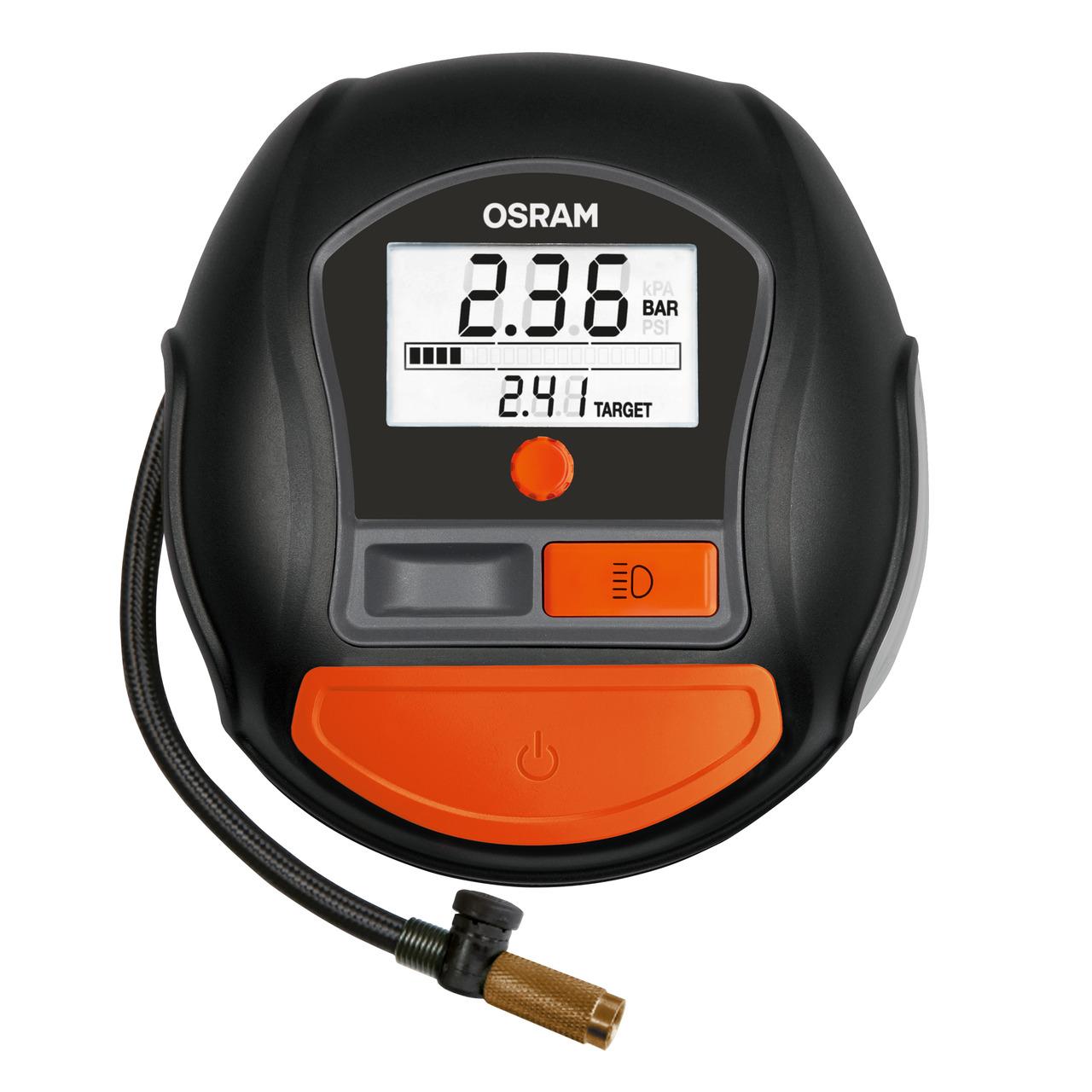 OSRAM Luftkompressor TYREinflate 1000- z- B- für Kfz-Fahrradreifen- mit LC-Display- 180 W- 15 A