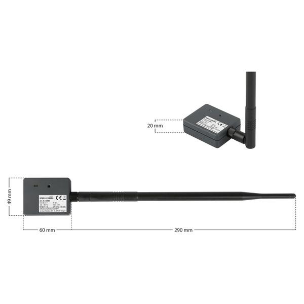 Schellenberg Smartphone Garagentoröffner mit LED, Bluetooth