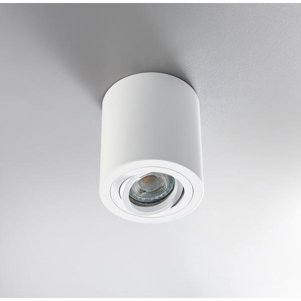 HEITRONIC Aufbaufassung ADL9301 für GU10-Lampen, schwenk- und drehbar, weiß