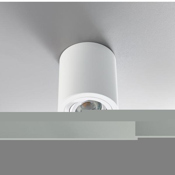 HEITRONIC Aufbaustrahler ADL9301 für GU10-Lampen, schwenk- und drehbar, weiß