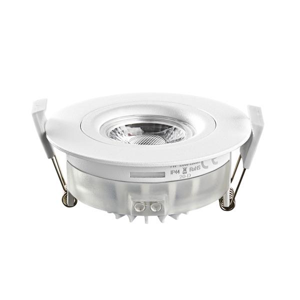 HEITRONIC 7-W-LED-Einbaustrahler DL6809, dimmbar, schwenk- und drehbar, IP44, weiß
