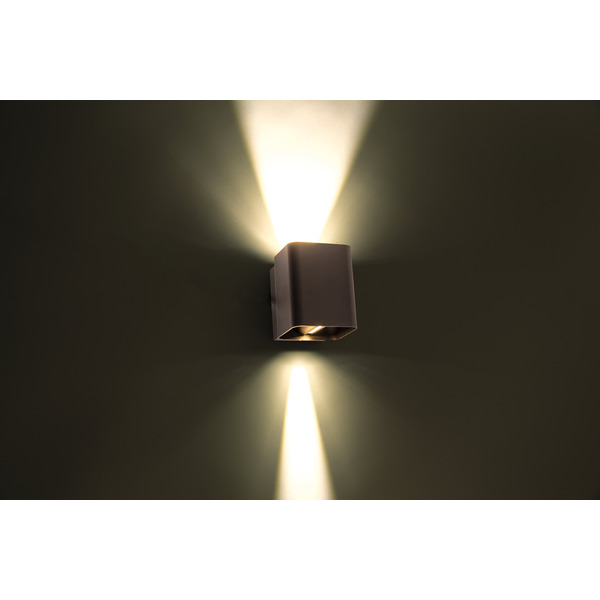HEITRONIC 13,5-W-LED-Wandleuchte Sophie, Lichtaustritt oben und unten einstellbar, anthrazit, IP54