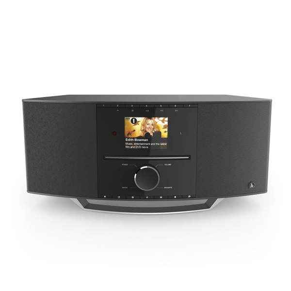 hama Digitalradio DIR3510SCBTX, DAB+/UKW/Internetradio, DLNA, Bluetooth RX/TX, CD-Player, 40-W-RMS