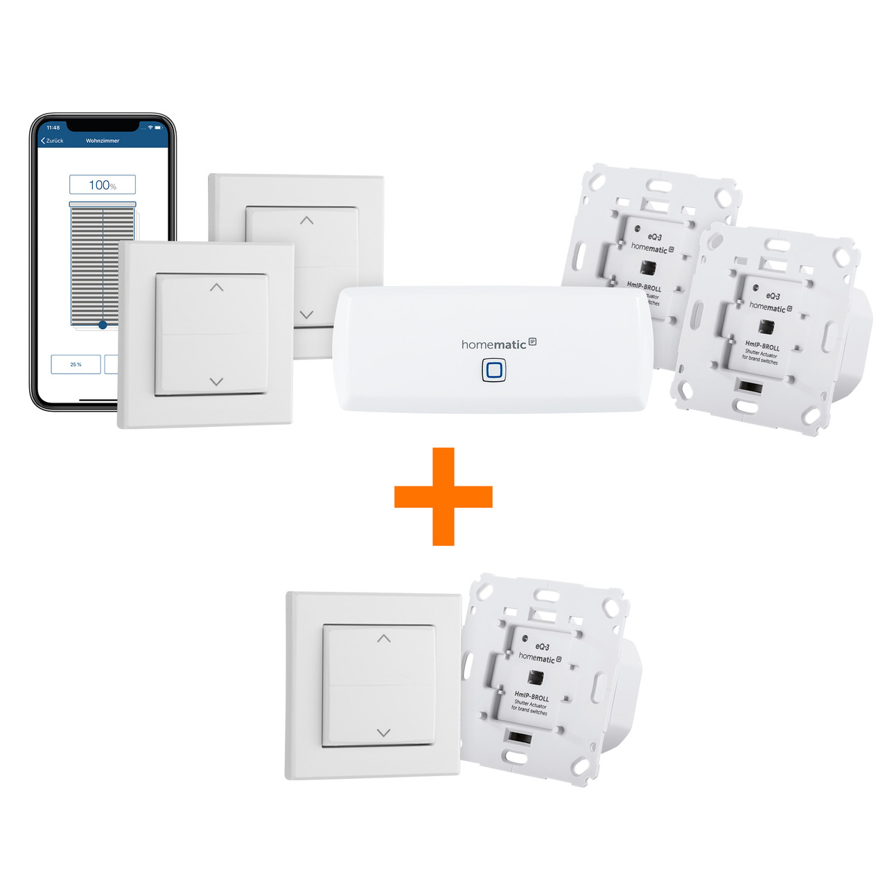 Homematic IP Smart Home Starter Set Beschattung – WLAN PLUS