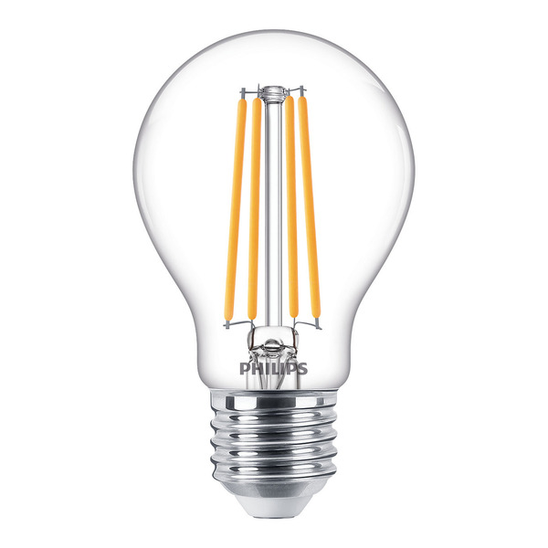 Philips 7,2-W-LED-Lampe Classic LEDbulb, E27, 806 lm, dimmbar, warmweiß