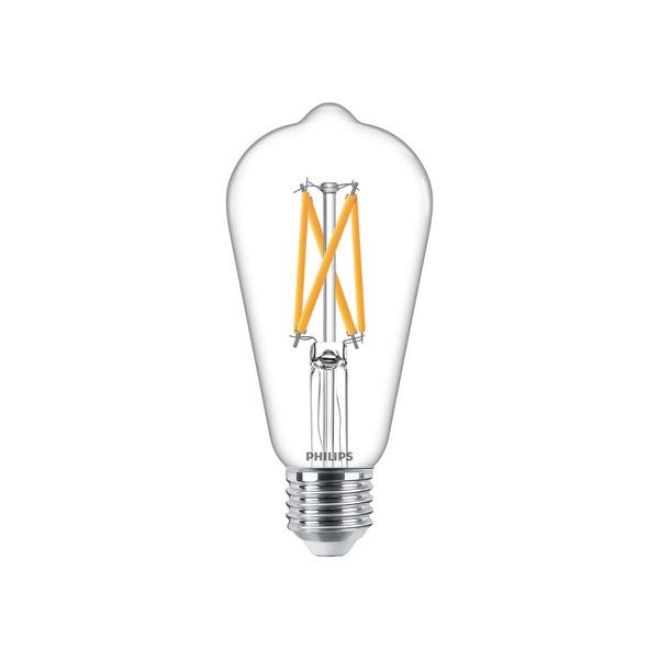 Philips 7-W-LED-Lampe Classic LEDbulb, E27, 806 lm dimmbar, warmweiß