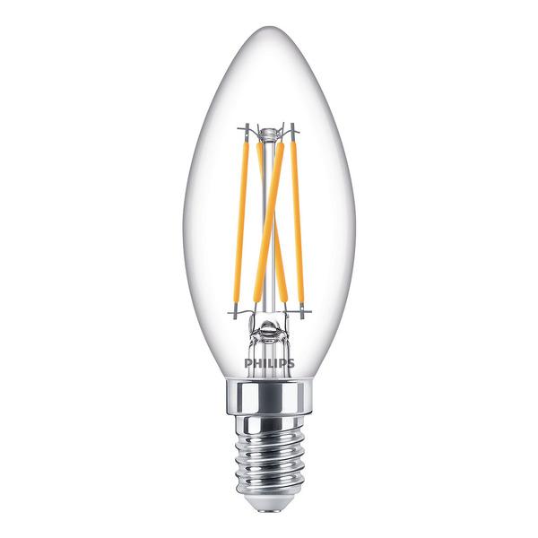 Philips 3,2-W-LED-Kerzenlampe Classic LEDcandle, E14, 250 lm, dimmbar, warmweiß