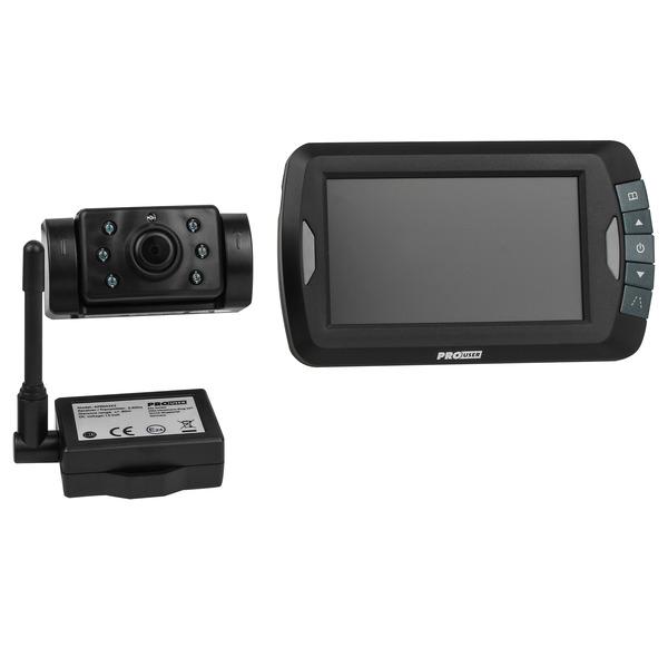 PROUSER Funk-Rückfahr-Kamerasystem APR043, 12 V, mit Nachtsichtkamera, autom. Park-Hilfslinien