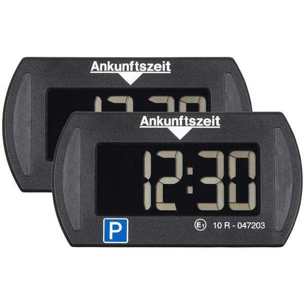 Needit 2er-Spar-Set Digitale Parkscheibe PARK MINI, automatische Parkzeiteinstellung, schwarz